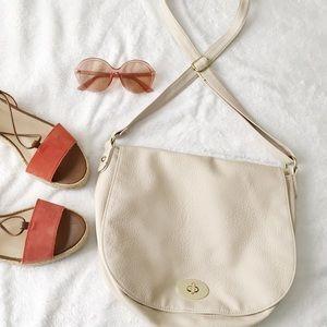 H&M Dark Cream Crossbody Saddle Bag